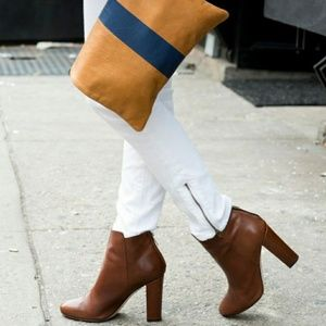 🔥J.Crew Leather Rory High Heel Ankle Boots🔥